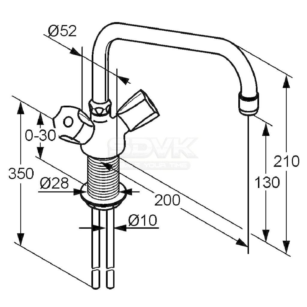 Схема монтажа смесителя в раковине